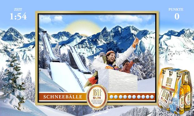 > Bitburger Schneeballspiel
