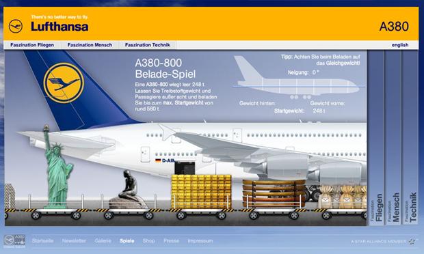 Lufthansa A380 Game
