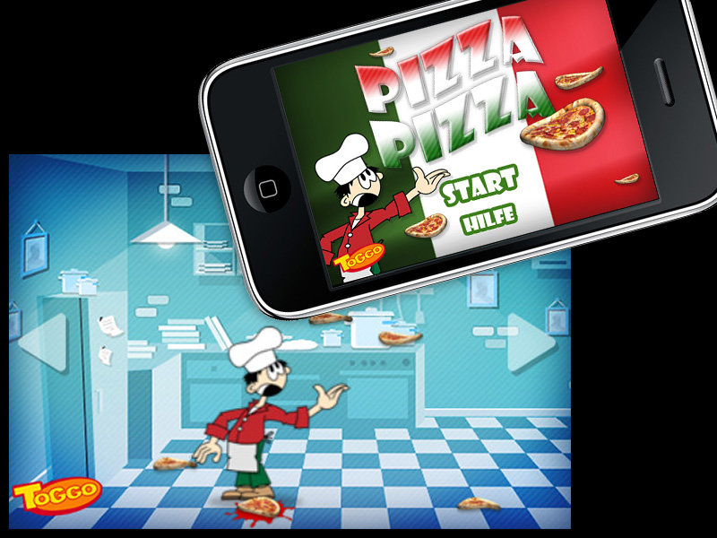 "Toggo iPhone-Game ""Pizza Pizza"""