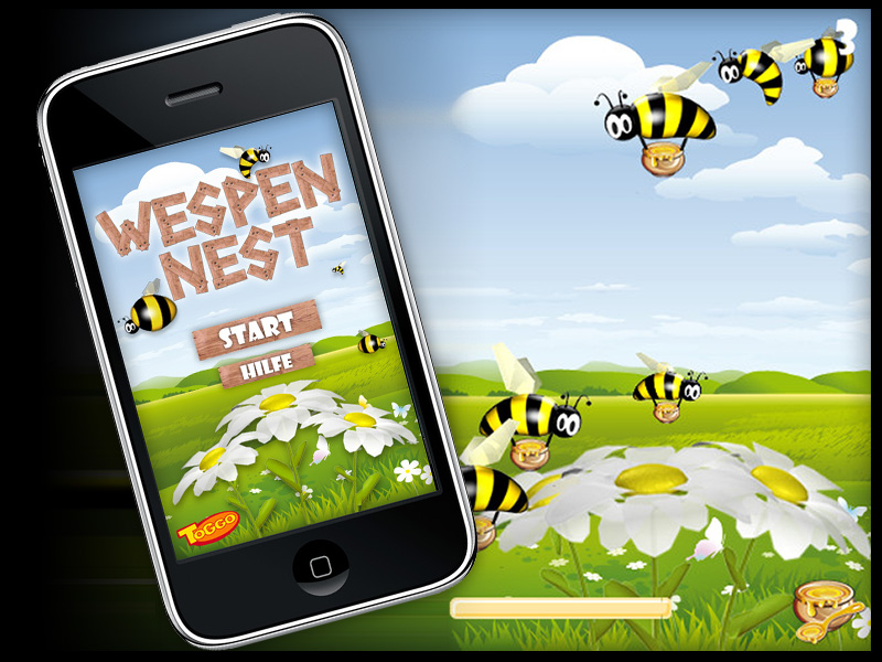"Toggo iPhone-Game ""Wespennest"""