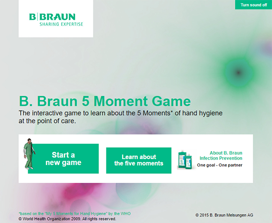 B.Braun Hands Clean Game